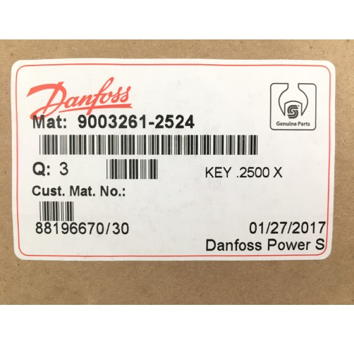 9003261-2524 - Parallel Key 6.35x6.35x38.1 mm