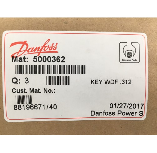 5000362 - Woodruff Key 7.887x dia 31.8 mm